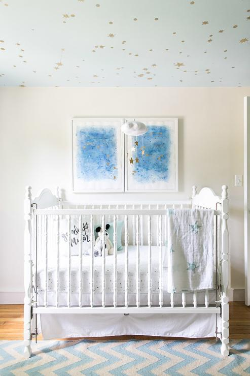 nursery-cloud-mobile-diy-galaxy-nursery-ceiling-white-vintage-crib